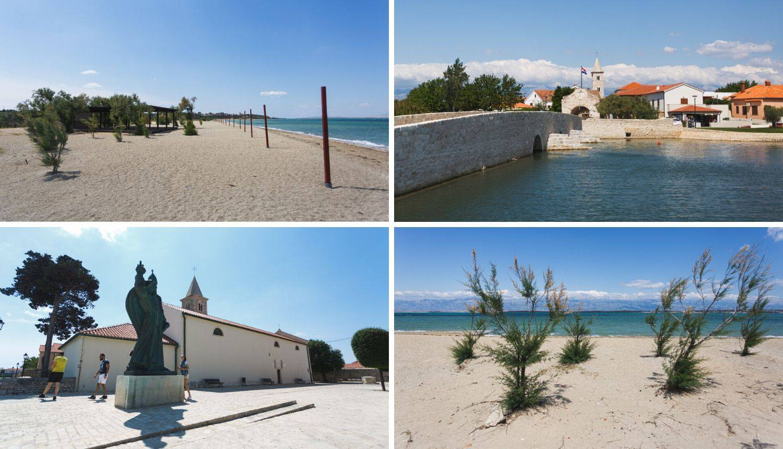 Plaža u Ninu je posve prazna, tu i tamo pokoji mještanin prošeće ulicama grada i popije kavu