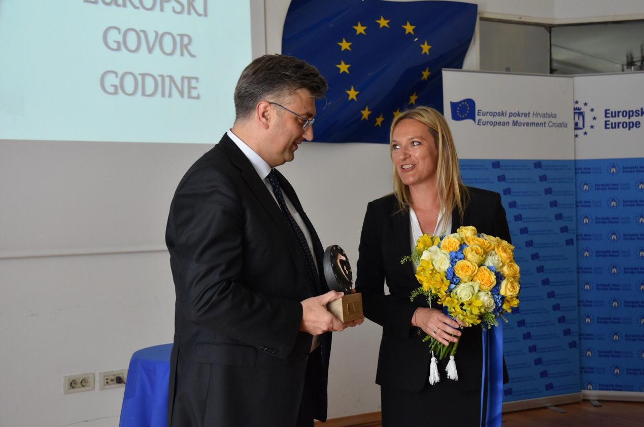 Premijer je primio nagradu za najbolji Europski govor godine