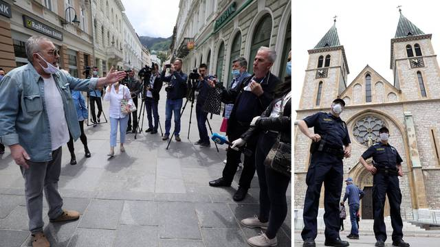 Prosvjed zbog mise za Bleiburg koja bi trebala biti u Sarajevu
