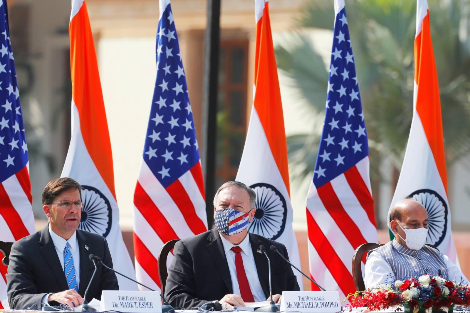 U.S. Secretary of State of Mike Pompeo and U.S. Defense Secretary Mark Esper visit India
