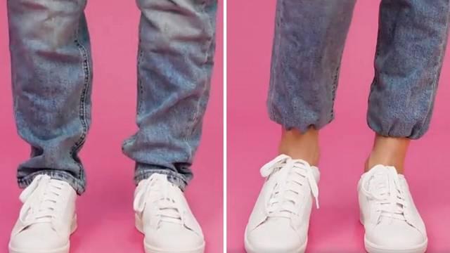Super trik: Evo kako ćete u  par minuta skratiti duge traperice