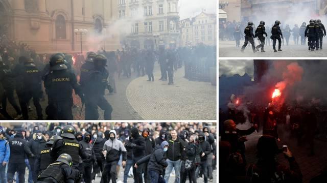 Neredi na ulicama Praga nakon najave novih restriktivnih mjera