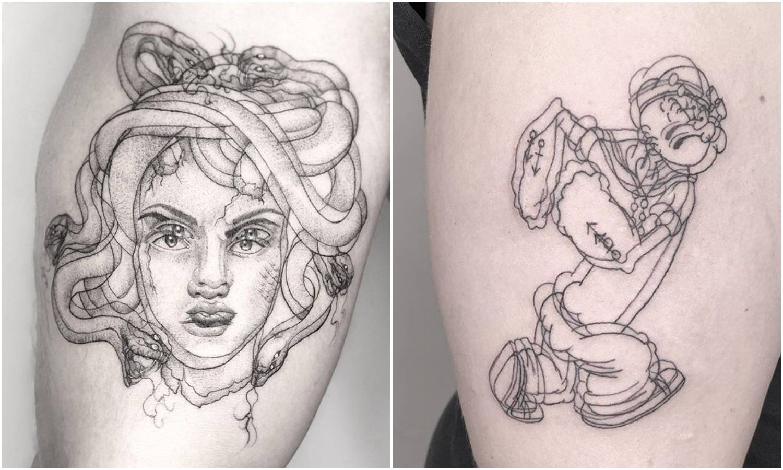 Da vam se zavrti: Umjetnica radi duple i troduple tetovaže