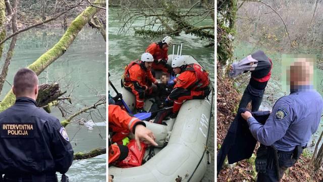 Spasili migranta iz Mrežnice, prelazio rijeku i zapeo na slapu