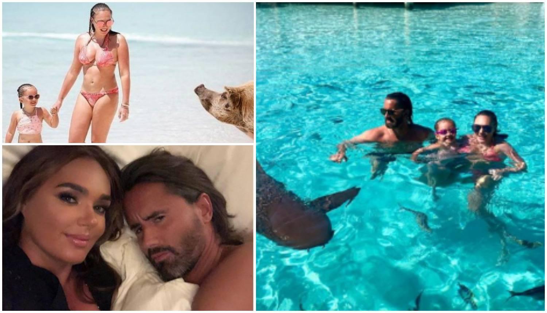 Luksuzni odmor na Bahamima: Tamara se brčkala sa svinjama
