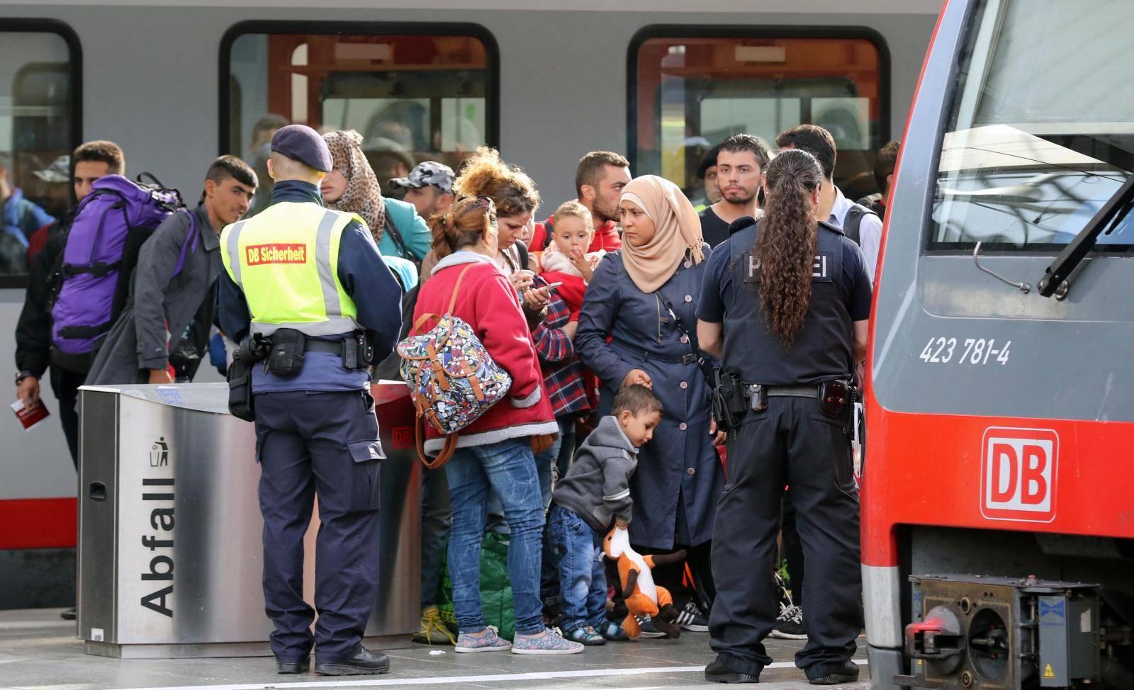 Migrants at Munich Train Station