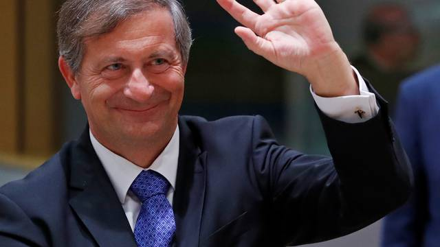 Slovenia's Foreign Minister Karl Erjavec attends an European Union foreign and defence ministers' meeting in Brussels