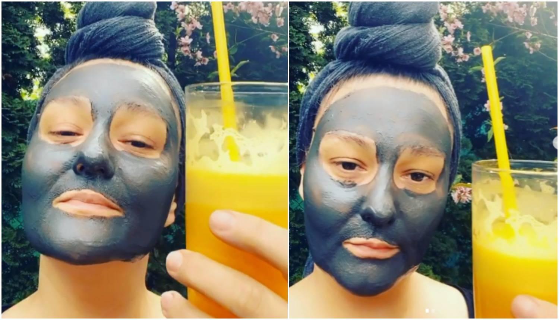 Tomčić u kućnom izdanju: Pije sok i maže se maskom od blata
