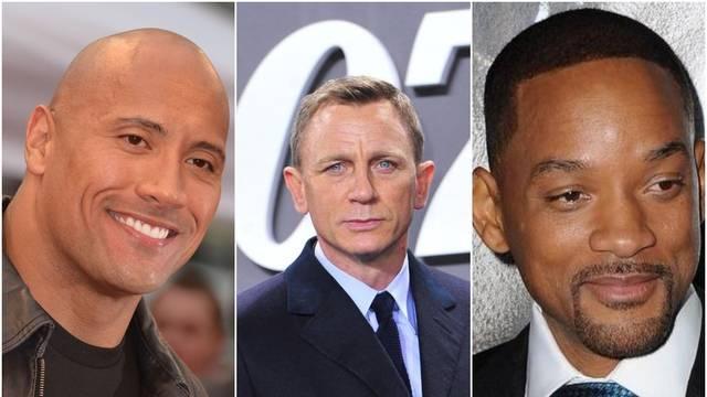 Najplaćeniji glumci današnjice: Na vrhu liste su Daniel Craig, Dwayne Johnson i Will Smith