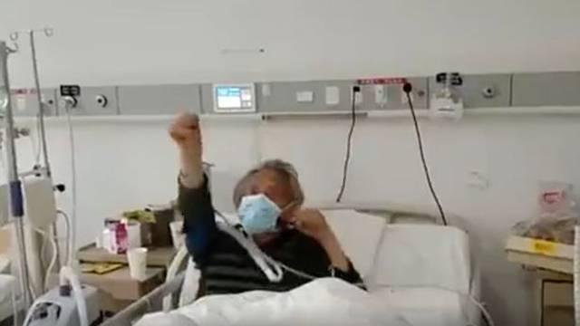 Pobjednički ples: Starac (87) je presretan jer je prebolio koronu