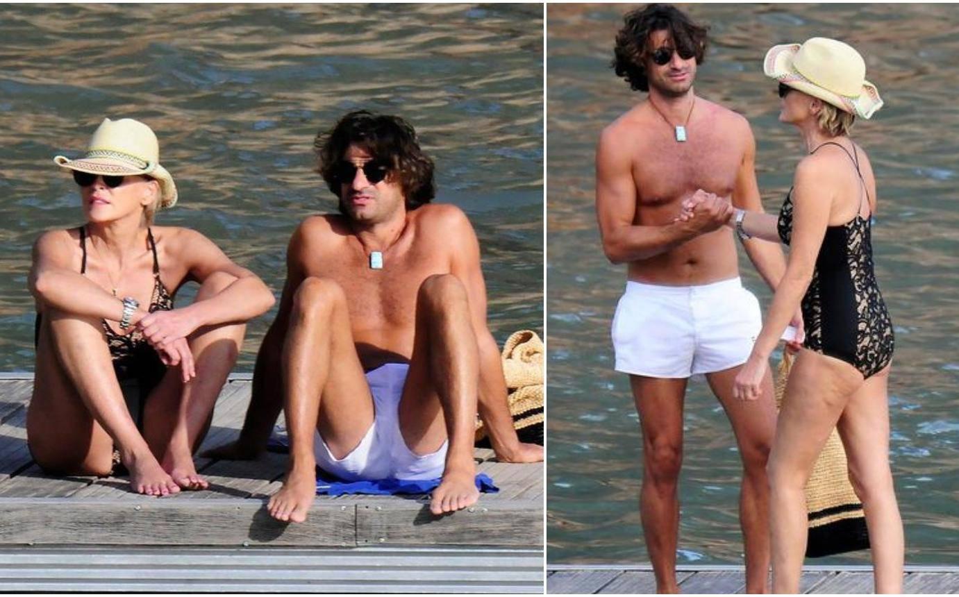 Zaljubljena Sharon uživa s 19 godina mlađim dečkom na plaži