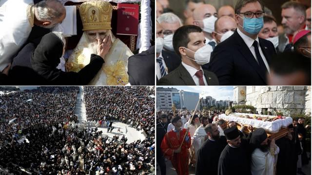 Pokopali mitropolita Amfilohija: Za pogreb nabavili 5000 maski, ali malo tko ih je nosio u gužvi
