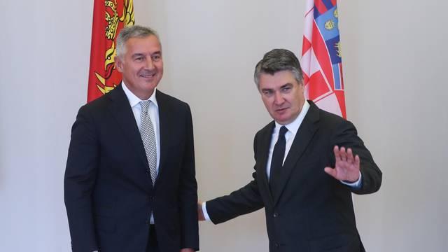 Zagreb: Zoran Milanović sastao se s Milom Đukanovićem u Uredu predsjednika na Pantovčaku