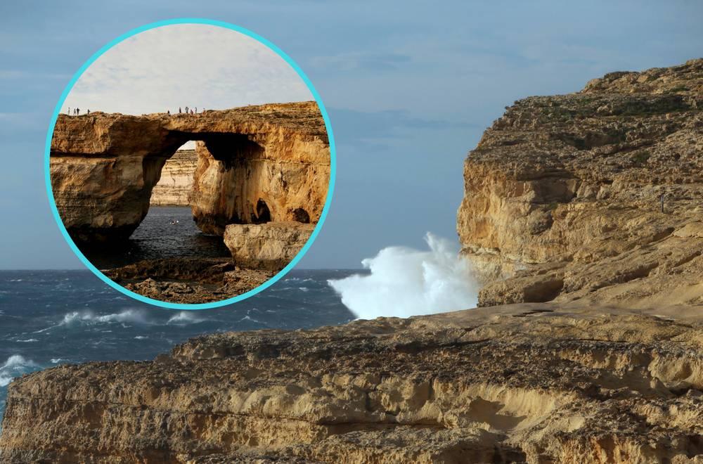Vjetar odnio malteški simbol: Azurni prozor završio u moru