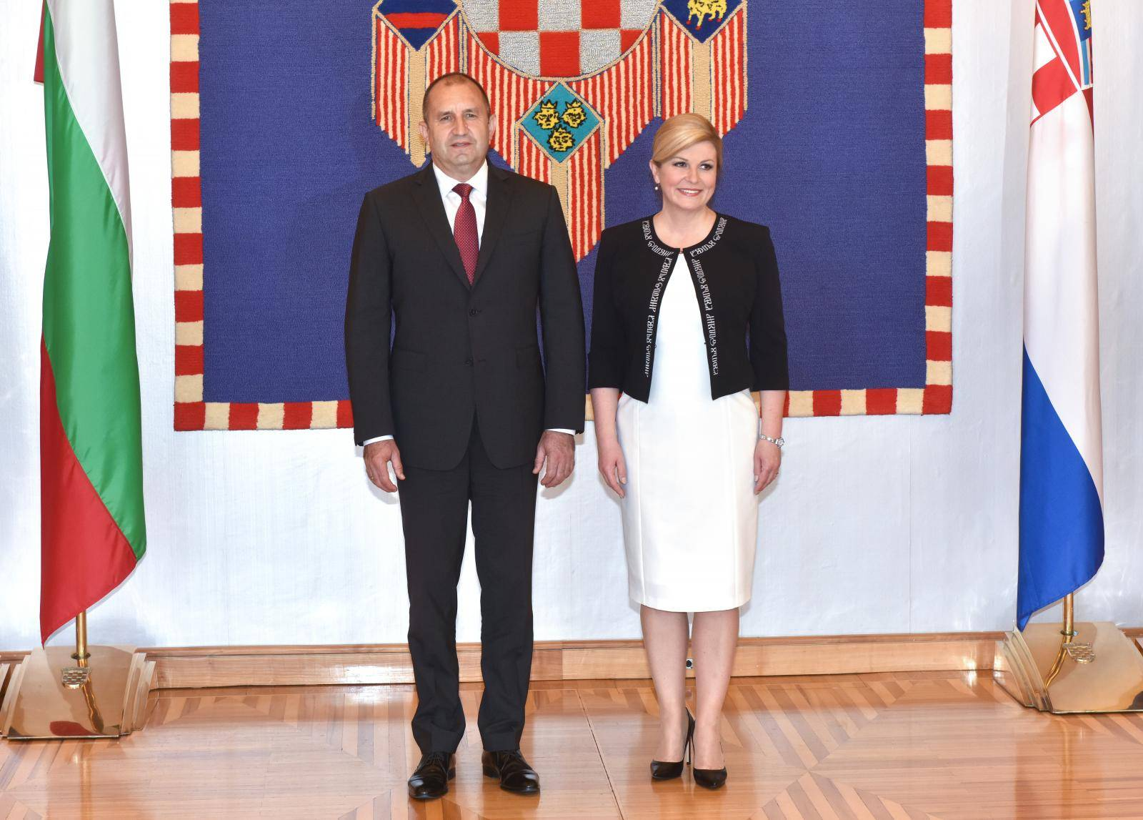 Zagreb: Kolinda Grabar-Kitaroviæ susrela se s bugarskim predsjednikom Rumenom