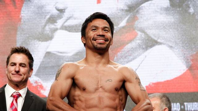 Manny Pacquiao and Keith Thurman Weigh in - MGM Grand Garden Arena