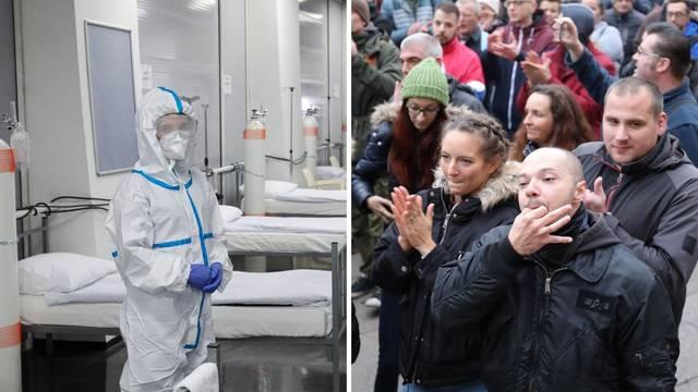 Medicinska sestra komentirala prosvjed: 'Mi se gušimo pod full opremom, a oni kao srdele...'