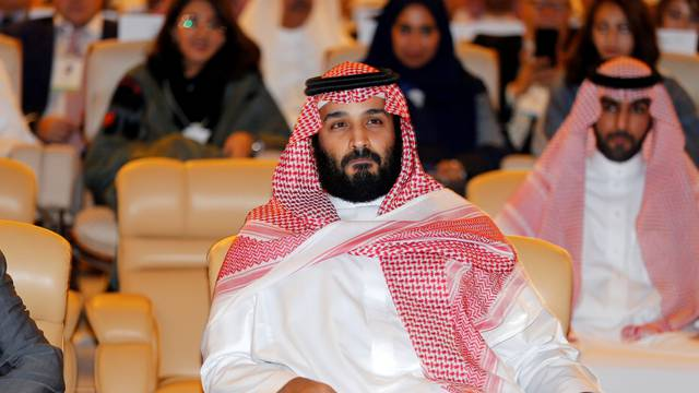 FILE PHOTO: Saudi Crown Prince Mohammed bin Salman, attends the Future Investment Initiative conference in Riyadh