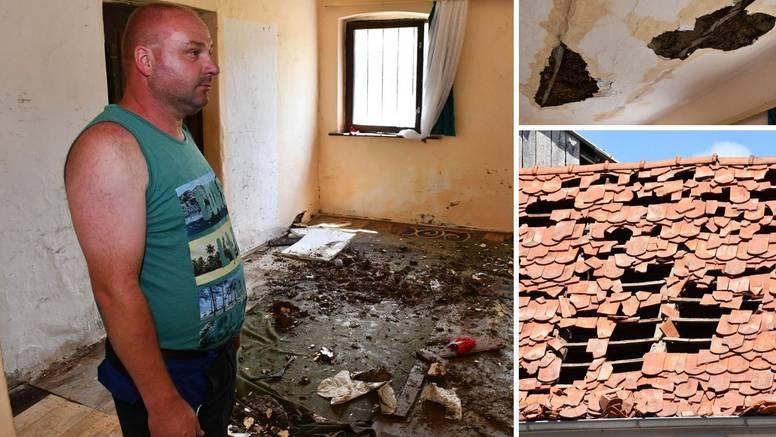 Ivan iz Požege ostao bez svega u oluji: Čuli smo da puca crijep, a onda je strop počeo otpadati