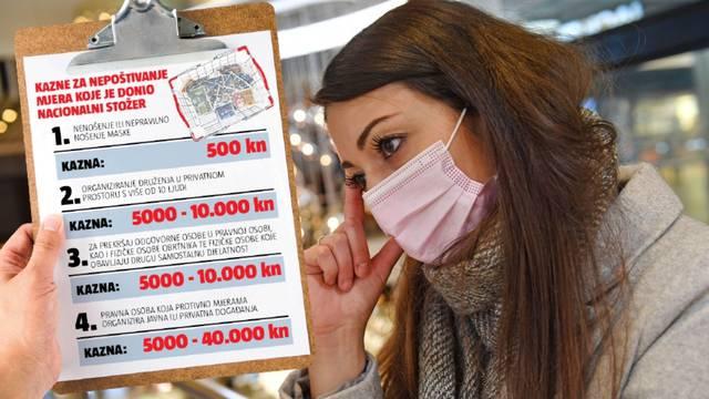 Od subote vas mogu kazniti s 500 kuna ako nemate masku