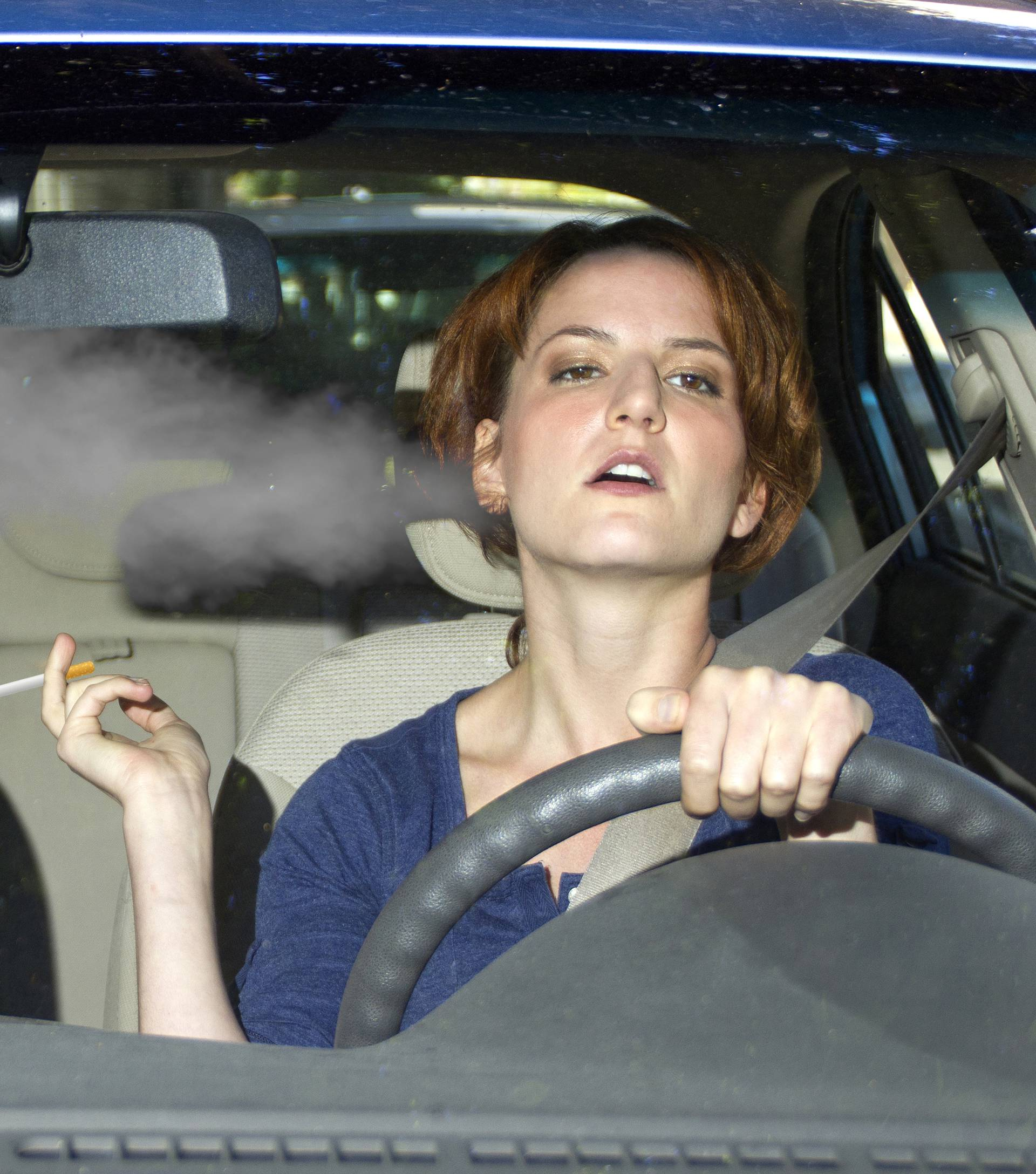 Second Hand Smoke From a Driver Smoking in a Car