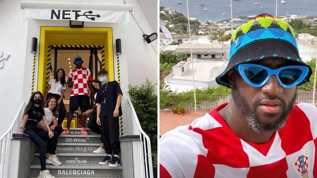 Dizajner Louis Vuittona obožava hrvatski dres: Nosio ga je na otvorenju butika na Capriju