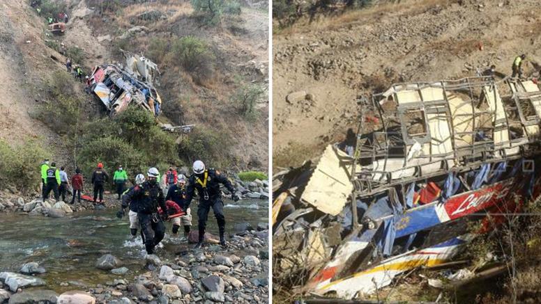 Tragedija u Peruu: Autobus sletio u provaliju, najmanje 29 mrtvih, još 20 ljudi ozlijeđeno