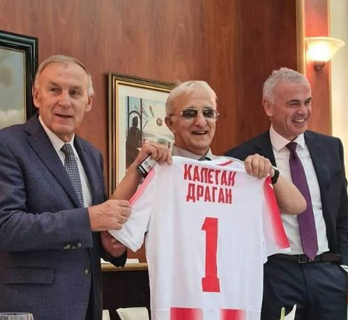 Kapetan Dragan dobio počasni dres Crvene zvezde s brojem 1