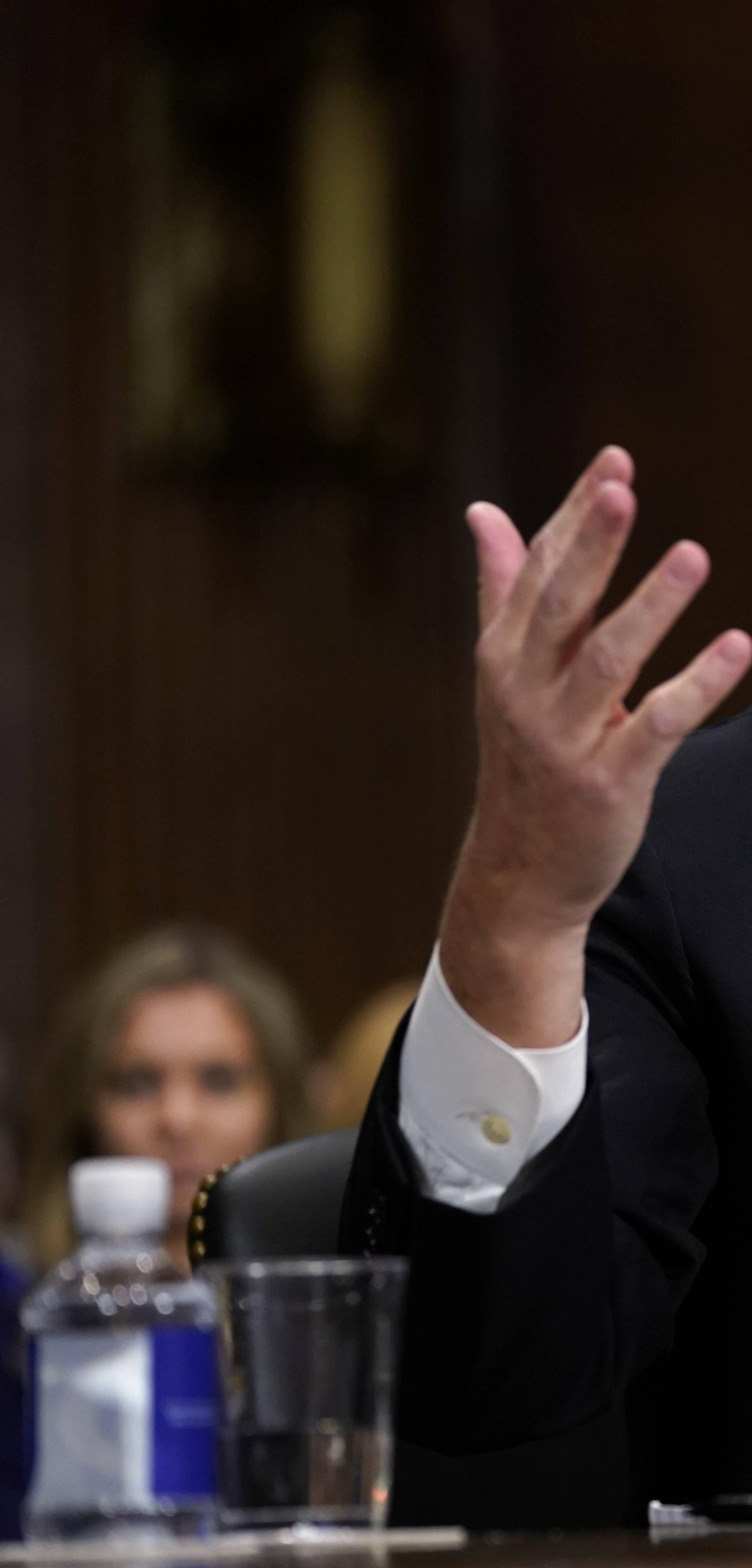 Supreme Court nominee Brett Kavanaugh testifies before the Senate Judiciary...