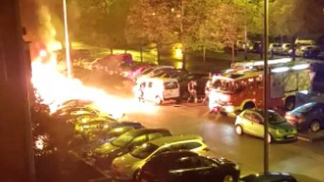 VIDEO Pogledajte trenutak eksplozije na Jarunu: 'Dijelovi automobila letjeli su naokolo'