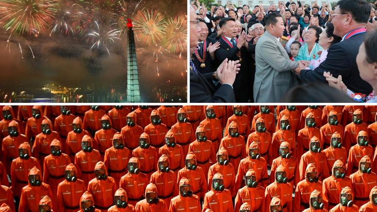 Sjeverna Koreja proslavila dan osnutka paradom: Marširali gradom u zaštitnim odijelima