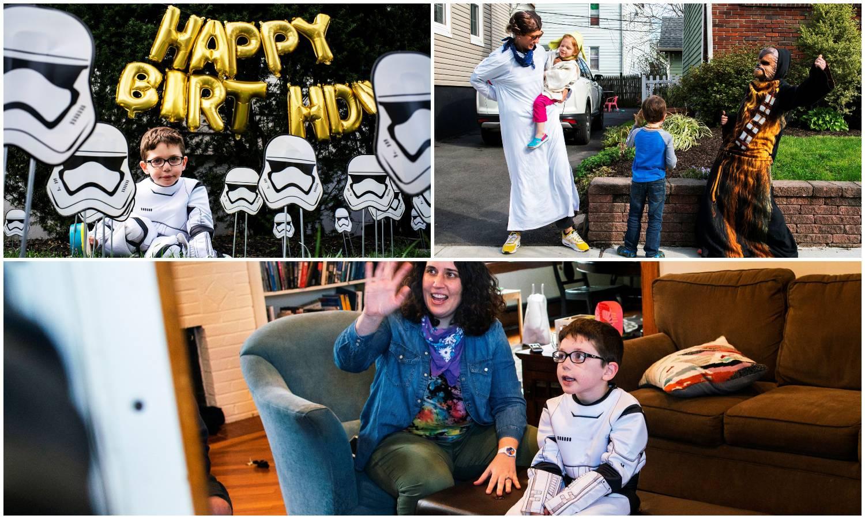Roditelji mu priredili Star Wars proslavu uz socijalni razmak
