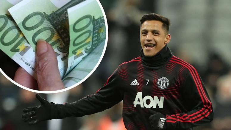 Lova do krova: Alexis Sanchez zarađuje 300 eura po sekundi!
