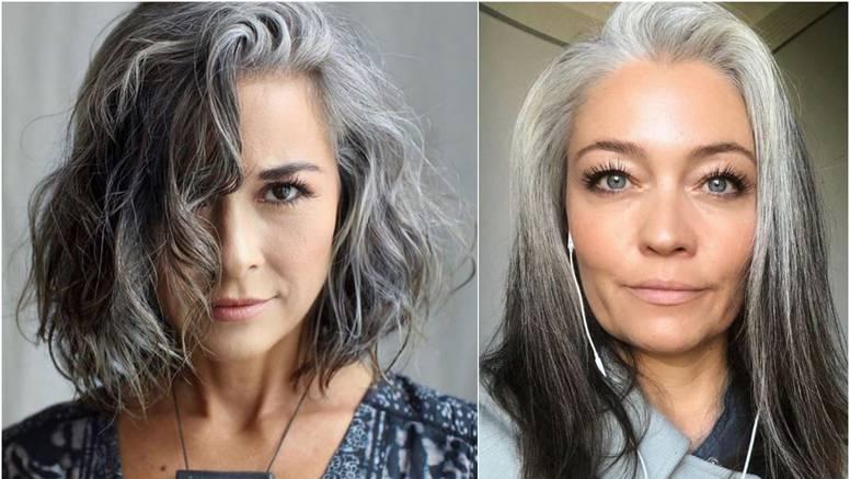 Bez farbanja: Lijepe frizure sa sijedom kosom i pramenovima