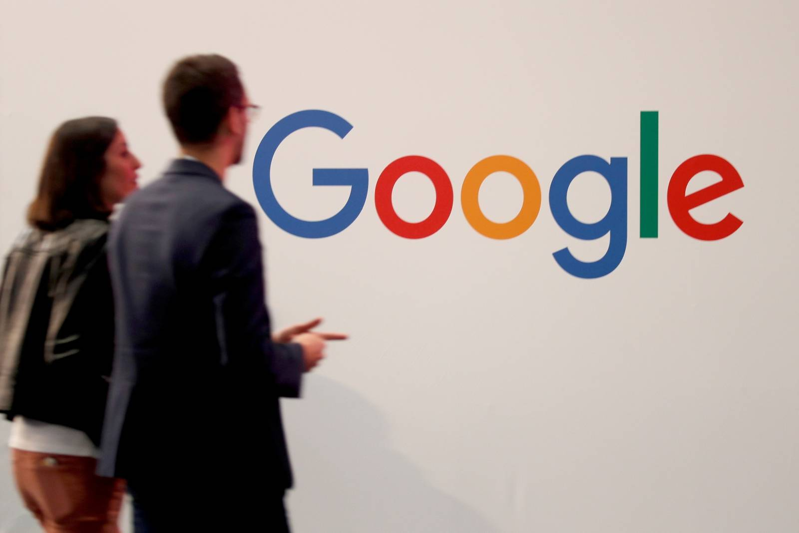 FILE PHOTO: Logo of Google is seen at VivaTech fair in Paris