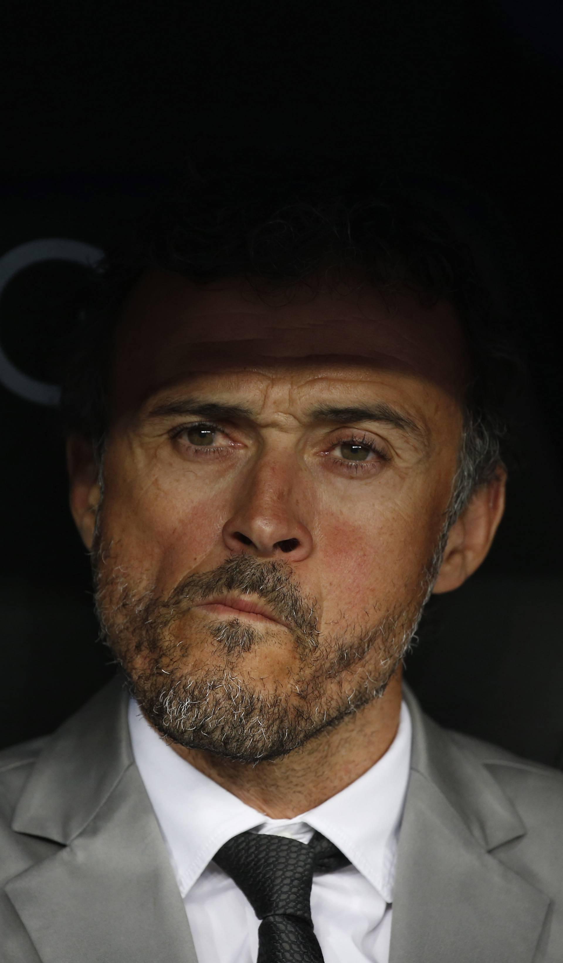 Barcelona coach Luis Enrique before the match