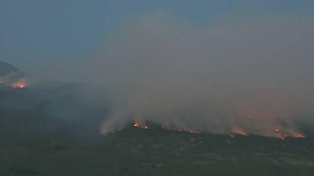 Planuli požari na Učki: Gase ih tri kanadera i 90 vatrogasaca