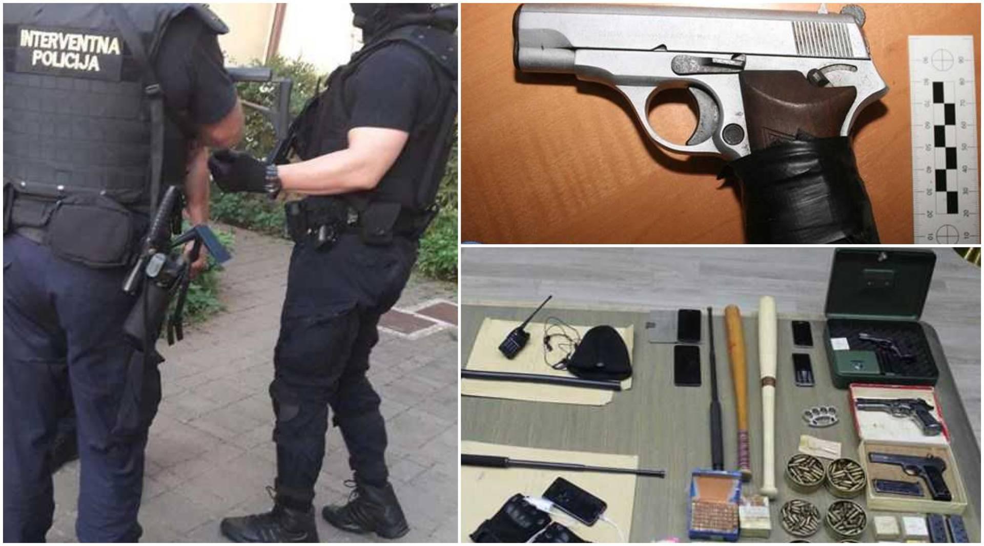 Policija upala u stanove i našla arsenal oružja, mladić iz Srbije bacio pištolj kroz prozor