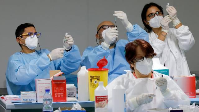 FILE PHOTO: COVID-19 vaccination centre in Naples