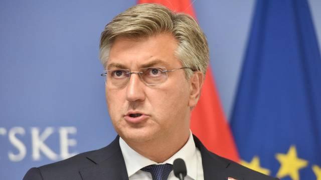 Zagreb: Nakon sastanka premijer Plenković i general Miljavac dali izjave za medije