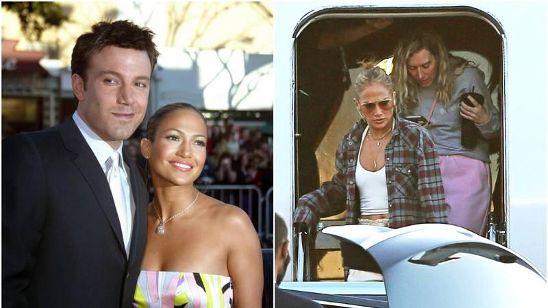 J.Lo u ležernom izdanju: Obukla košulju Bena Afflecka kojemu to nije prvi put da posuđuje odjeću