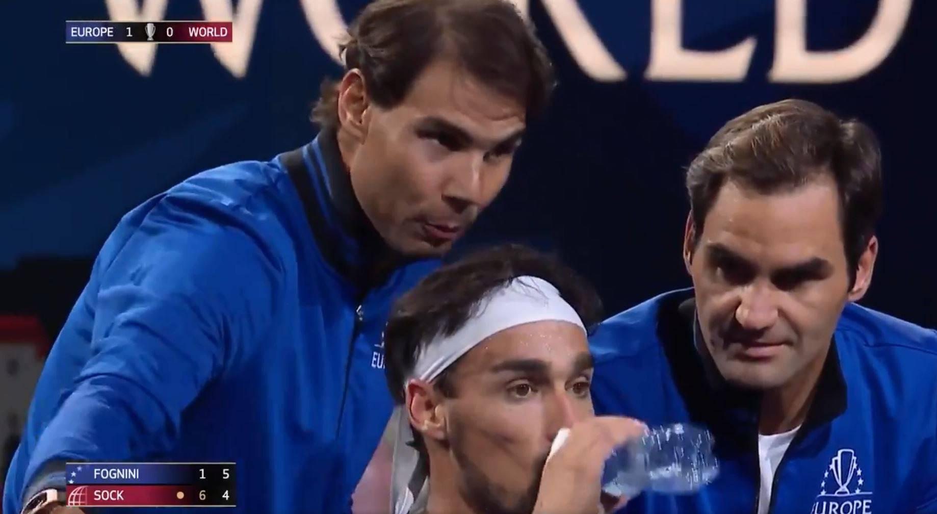 Fabio, slušaj ovamo! Federer i Nadal davali su upute Fogniniju