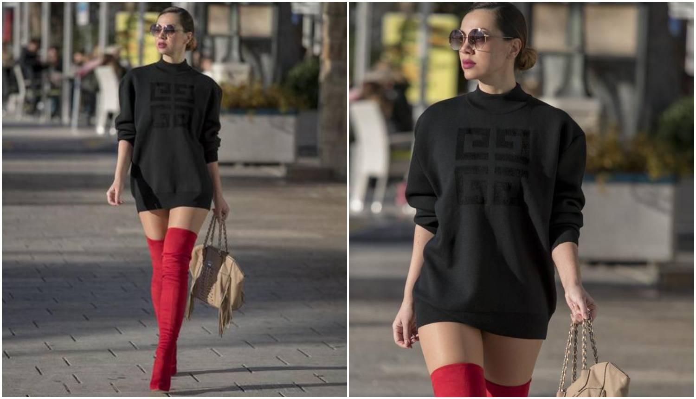 Za nju nema zime: Žanamari gradom šetala samo u majici