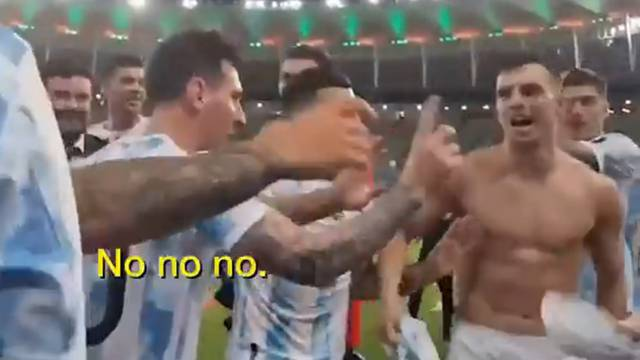 VIDEO Messi ušutkao suigrača