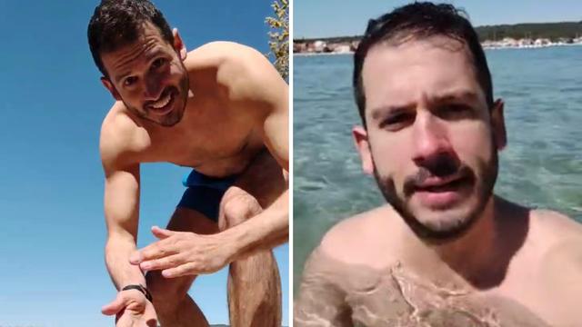Boris Rogoznica otvorio sezonu kupanja u Sukošanu: Bacio se u more na samo 13 Celzijevaca...
