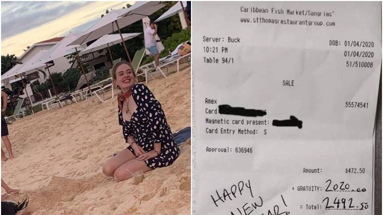 Ona ne štedi: Adele konobaru dala napojnicu od 13.500 kuna
