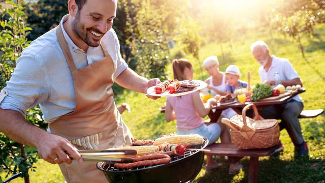 Food, people and family time concept