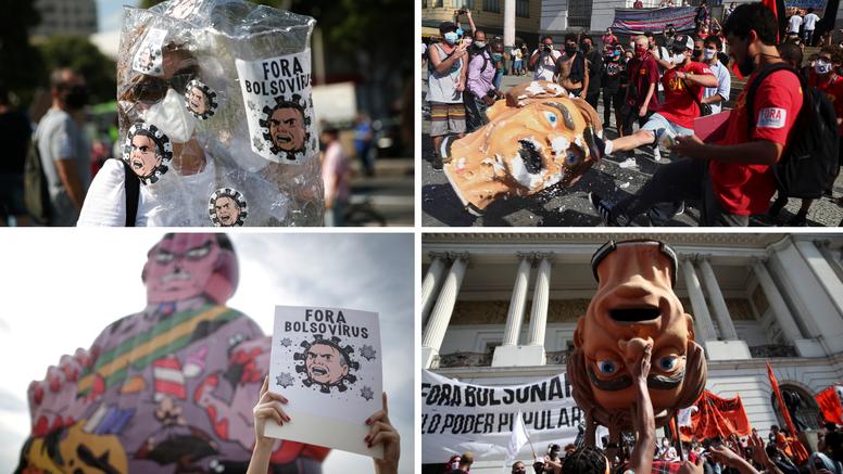 Na ulice Brazila izašlo 10 tisuća ljudi: Traže Bolsonarov opoziv te bolji i lakši pristup cjepivu