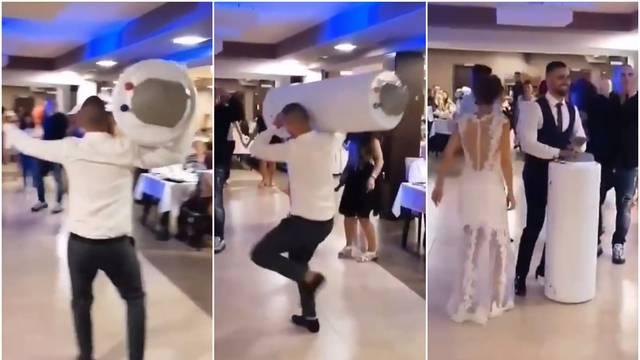 Video sa svadbe u Srbiji postao hit: Kum nosio bojler na ramenu