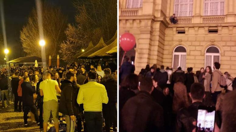 Mladi se opet okupili na Jarunu, a veselo je bilo i ispred HNK: 'Treštala je muzika cijelu noć'